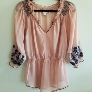 Daytrip size S sheer tunic